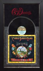 """Charlie Daniels Band Signed LP Album """"FIRE ON THE MOUNTAIN"""""""