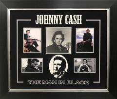 "Johnny Cash "" THE MAN IN BLACK"" Photo Signed"