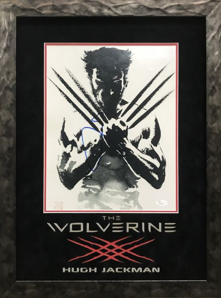 Hugh Jackman Logan Wolverine Signed 11x14 photo framed