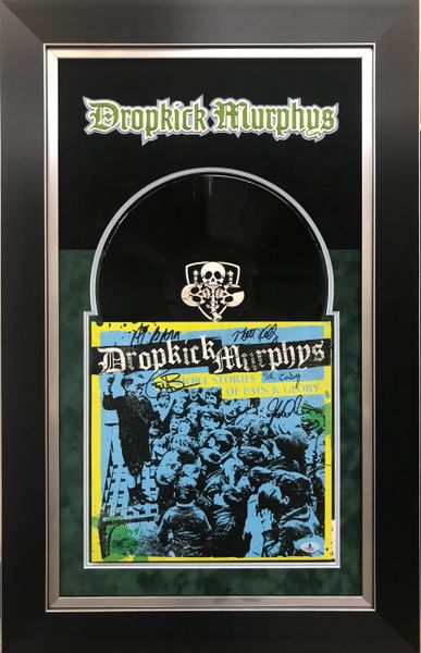 Dropkick Murphys Album signed by 5