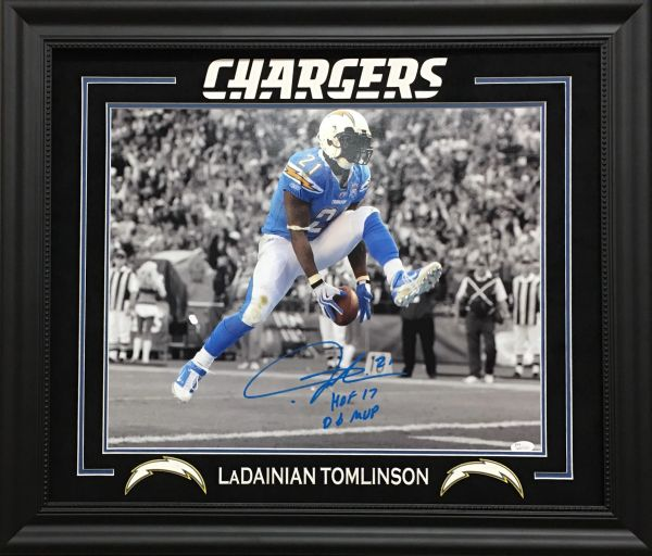 LaDanian Tomlinson signed Chargers 16x20 photo