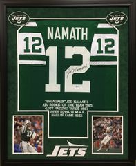 Joe Namath New York Jets signed stat jersey