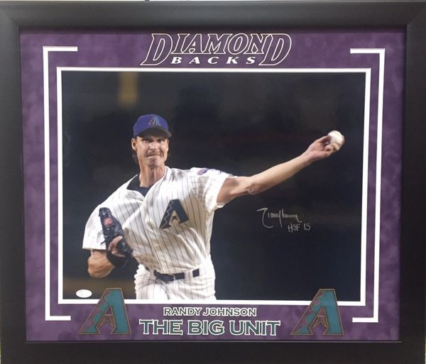 "Randy Johnson ""DiamondBacks"" Signed 16 x 20 Photo"
