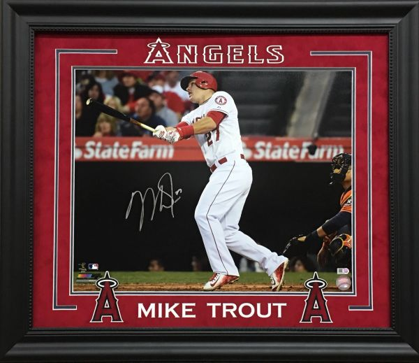 """Mike Trout """"Angels"""" signed 16x20 photo"""