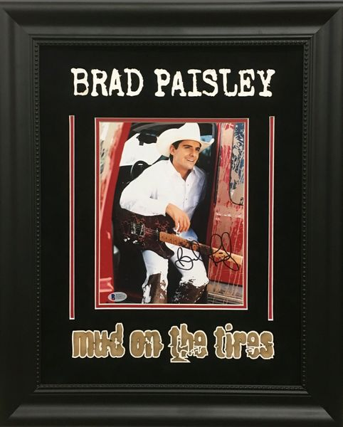 "Brad Paisley ""Mud On The Tires"" signed 8x10"