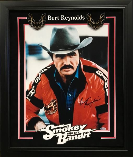 "Burt Reynolds ""Smokey and the Bandit"" Signed 16x20 photo"