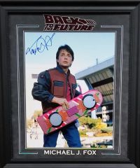 Michael J. Fox BACK TO THE FUTURE signed 16x20 photo