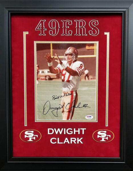 Dwight Clark 49ERS signed 8x10 Photo
