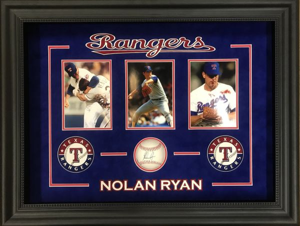Nolan Ryan Signed Baseball Framed Shadowbox