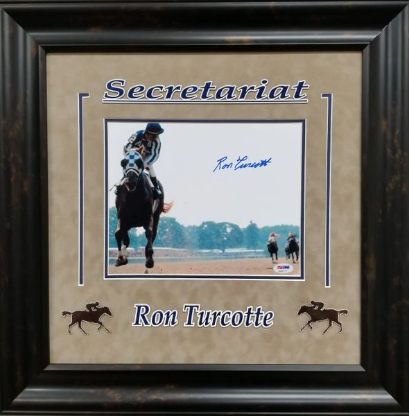 "Ron Turcotte ""SECRETARIAT"" signed 8x10"