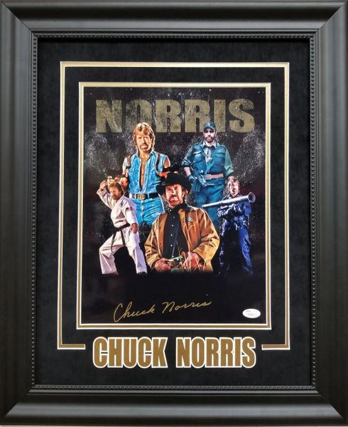 Chuck Norris signed 11x14