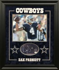 Dak Prescott signed cut with 11x14 photo