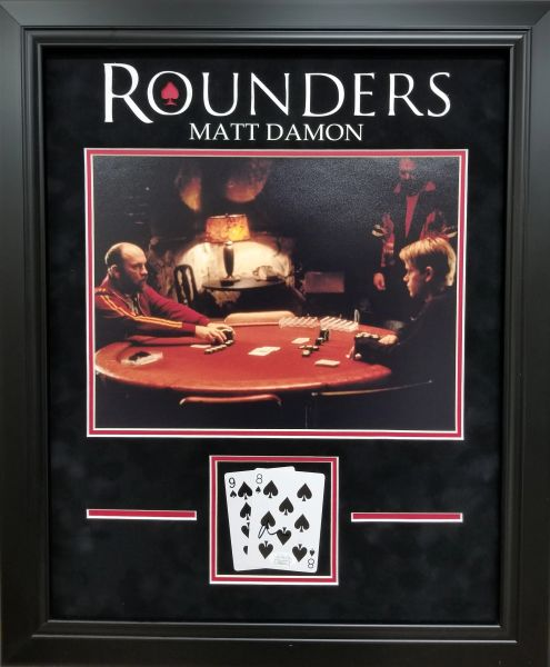 Matt Damon Signed ROUNDERS Card