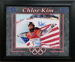 Chloe Kim signed 11x14 2018 Olympics Team USA Snowboarding Gold Medalist