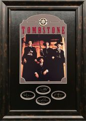 TOMBSTONE framed display with engraved autographs