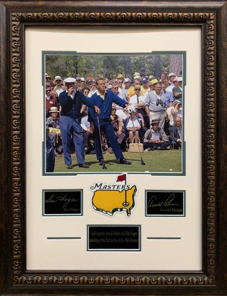 Ben Hogan and Arnold Palmer 11x14 Photo with Engraved Autographs