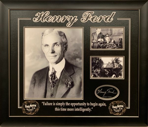 HENRY FORD FRAMED COLLAGE