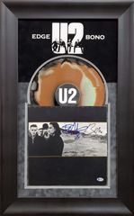 U2 JOSHUA TREE ALBUM SIGNED BONO AND EDGE