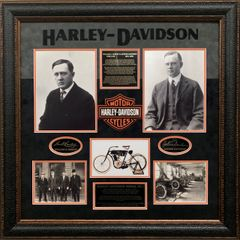 HARLEY-DAVIDSON FOUNDERS COLLAGE WILLIAM S. HARLEY & ARTHUR DAVIDSON