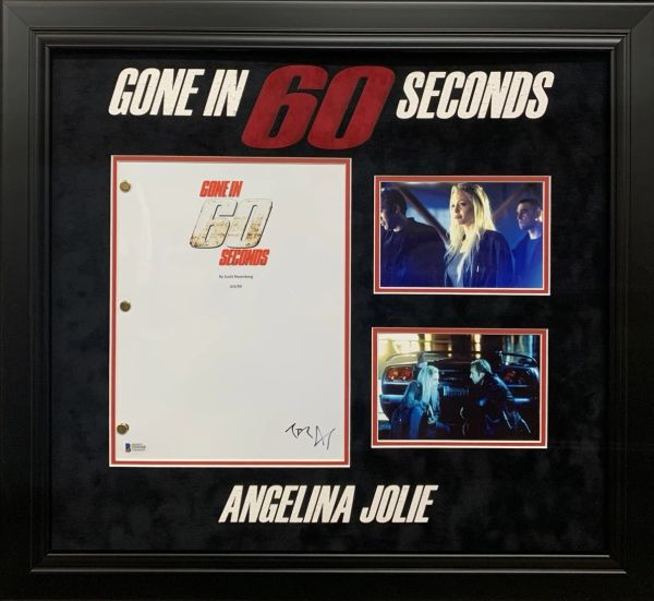 "ANGELINA JOLIE ""GONE IN 60 SECONDS"" SIGNED MOVIE SCRIPT"
