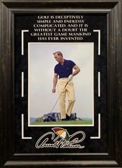 ARNOLD PALMER 11X14 PHOTO WITH QUOTE