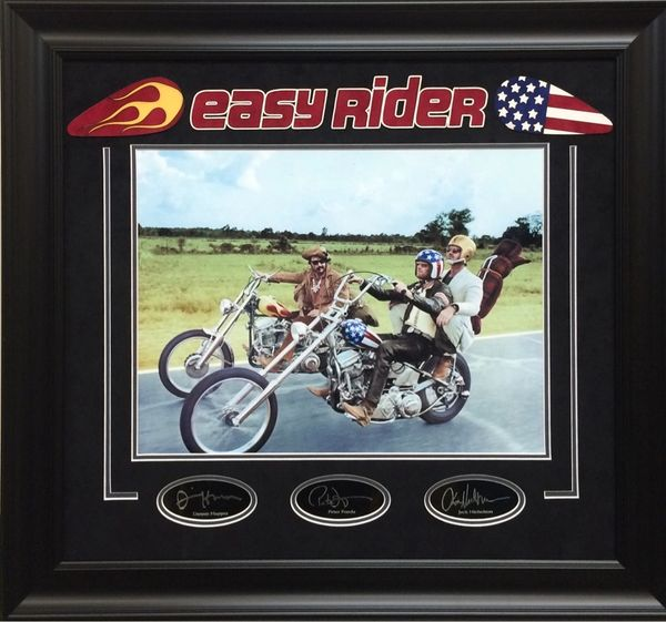 Easy Rider Photo With Lasered Autograph Replicas
