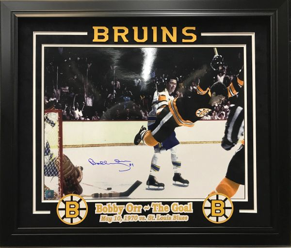 "BOBBY ORR ""THE GOAL"" BOSTON BRUINS SIGNED 16X20 PHOTO"