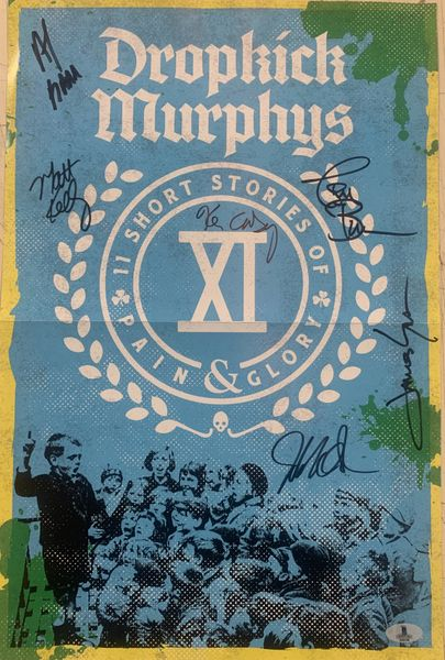 DROPKICK MURPHY'S SIGNED 12X18 PULL OUT POSTER SIGNED BY 6