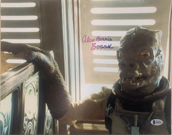 "ALAN HARRIS ""BOSSK"" SIGNED STAR WARS 11X14 PHOTO"