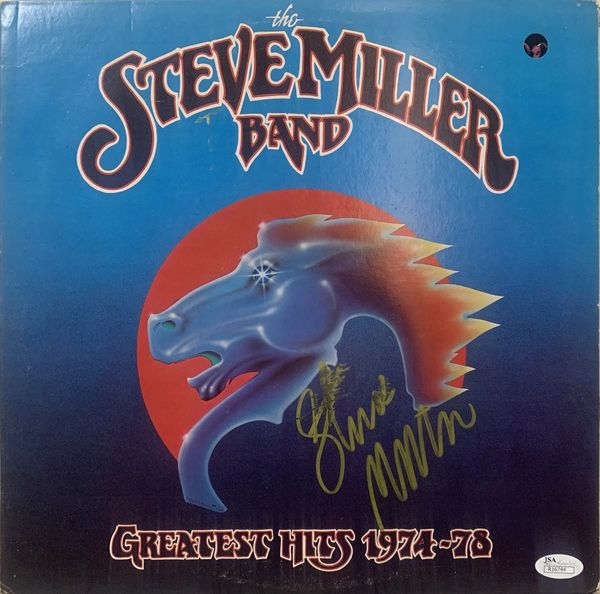 STEVE MILLER SIGNED THE STEVE MILLER BAND RECORD COVER