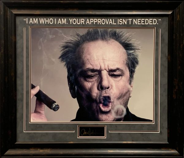 JACK NICHOLSON SMOKING A CIGAR FRAMED PHOTO WITH QUOTE