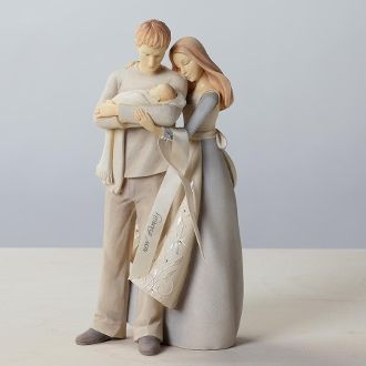Foundations Couple with Baby Collectible Figurine 4026912