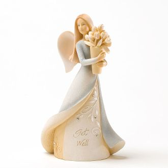 Foundations Get Well Mini Angel Collectible Figurine 4025642