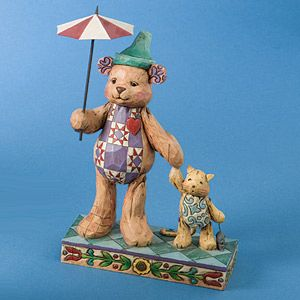 Jim Shore Heartwood Creek Bear With Cat 4008185