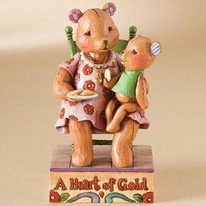 Jim Shore Heartwood Creek Bear With Loving Heart 4009906