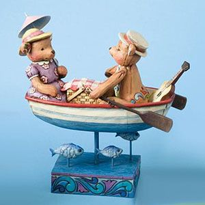 Jim Shore Heartwood Creek Bears In Boat 4009602