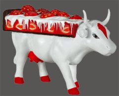Cow Parade Cow Pie Collectible Figurine 47866