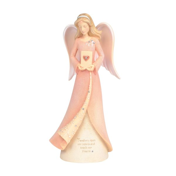 FOUNDATIONS TEACHER HEART ANGEL FIGURINE 6004088