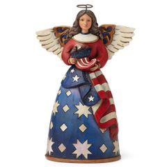 JIM SHORE HEARTWOOD CREEK PATRIOTIC ANGEL WITH FLAG 4044664