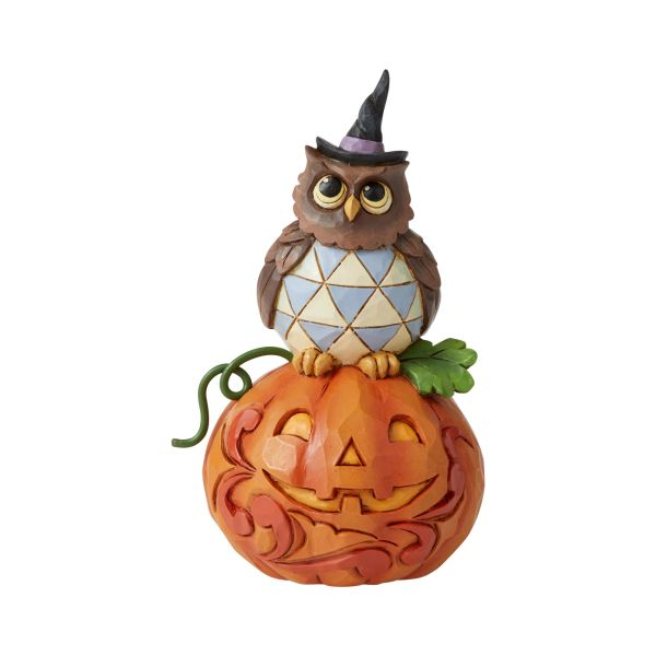 JIM SHORE HEARTWOOD CREEK MINI OWL WITH PUMPKIN 6006704