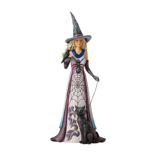 JIM SHORE HEARTWOOD CREEK WITCH WITH SPIDER WEB SKIRT 6006699