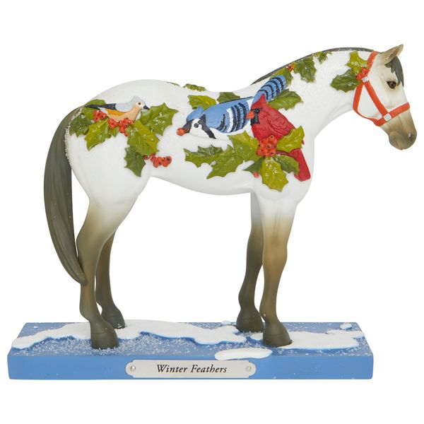 THE TRAIL OF THE PAINTED PONIES WINTER FEATHERS FIGURINE 6007463