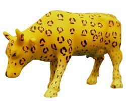 Cow Parade Leopard Cow (Mini) Collectible Figurine CWS23131
