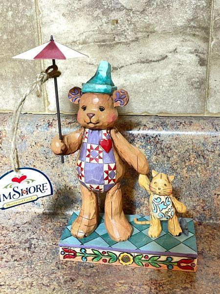Jim Shore Heartwood Creek Bear With Cat 4008185