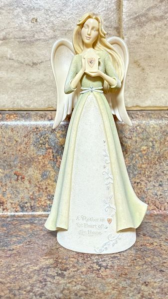 FOUNDATIONS MOTHER HEART ANGEL FIGURINE 6004086