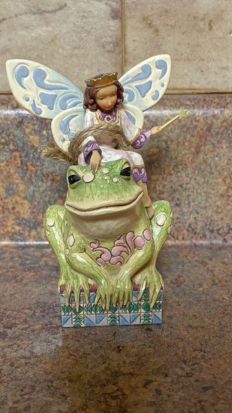 Jim Shore Heartwood Creek Fairy Princess with Frog 4014980