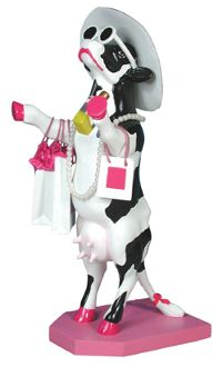 Cow Parade Aphadite Goddess of Shopping Collectible Figurine 47721