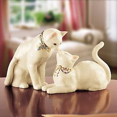 Lenox Collections Awake To A Kiss Loving Cats Sculpture 096215A