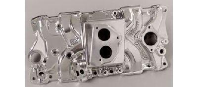 Edelbrock Performer T B I  Small Block Chevy Intake Manifold Polished 37041