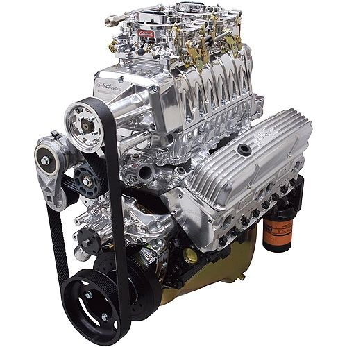 Edelbrock E-Force RPM Supercharged Small Block Chevy 350 Crate Engine  Carbureted 46040